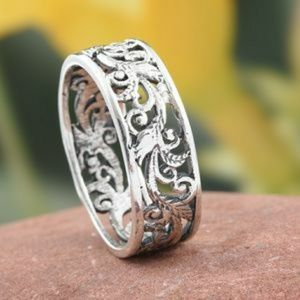 🌺ARTISAN HANDCRAFTED STERLING SILVER RING